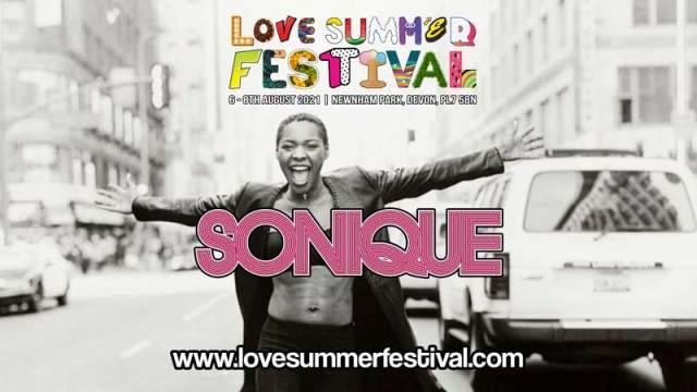 Sonique | Festival | Love Summer Festival | 2021 | Image | Promo Shot | Logo
