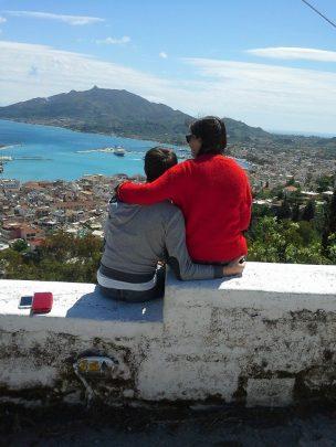 taking in the Zante view