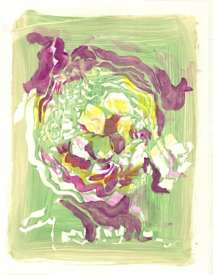 Cabbage Inspired Monoprint