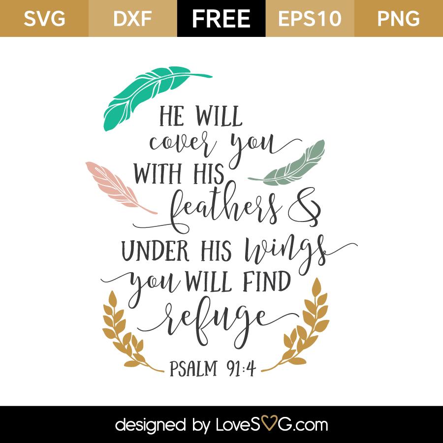 Download Psalm 91:4   Lovesvg.com