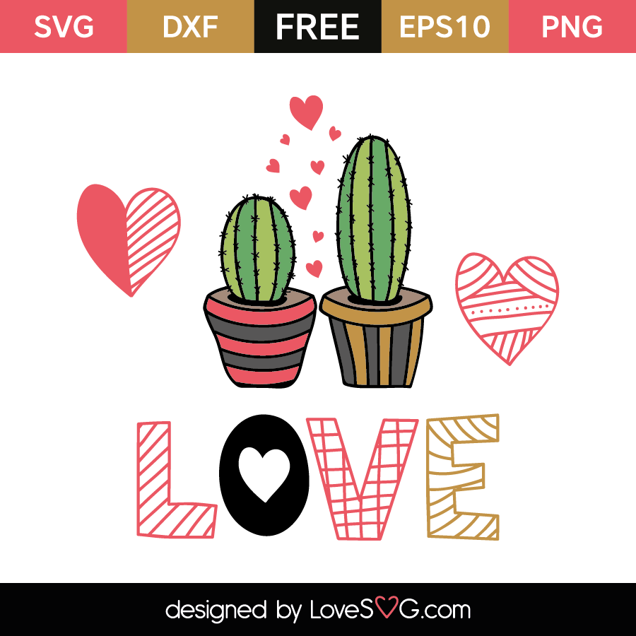 Download Cactus Love | Lovesvg.com