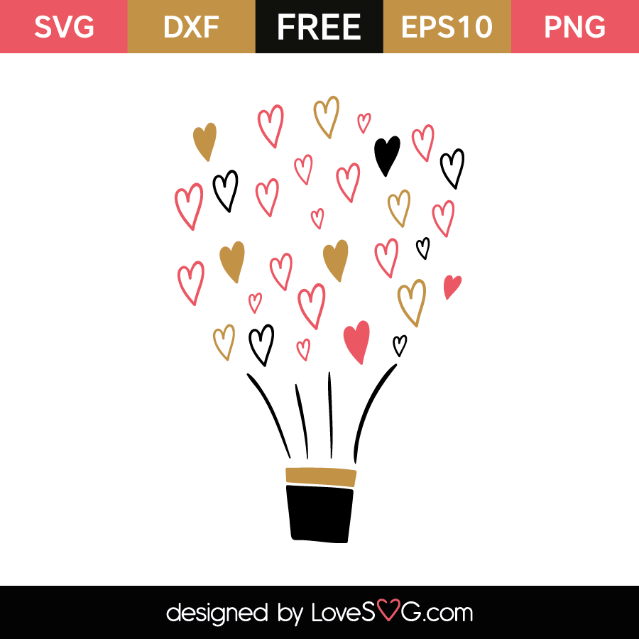 Download Love is in the Air Balloon   Lovesvg.com