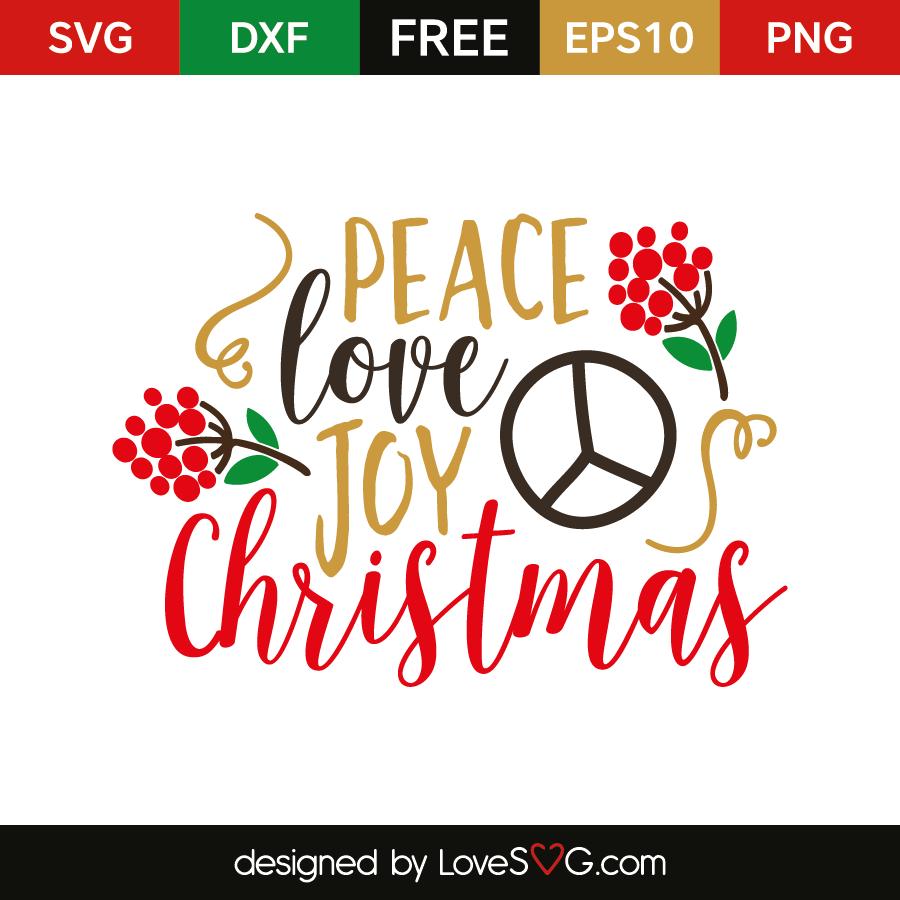 Download Peace Love Joy Christmas | Lovesvg.com