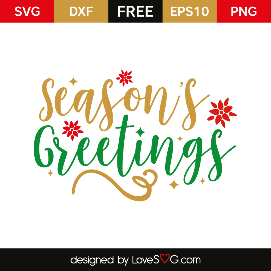 Seasons greetings lovesvg free svg cut file seasons greetings m4hsunfo