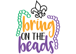 Free SVG cut file - Bring on the beads
