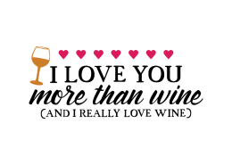 Free SVG cut file - I love you more than wine