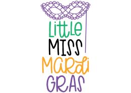 Free SVG cut file - Little Miss Mardi Gras