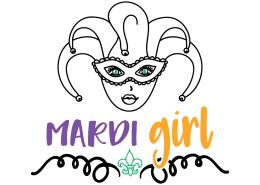 Free SVG cut file - Mardi Girl