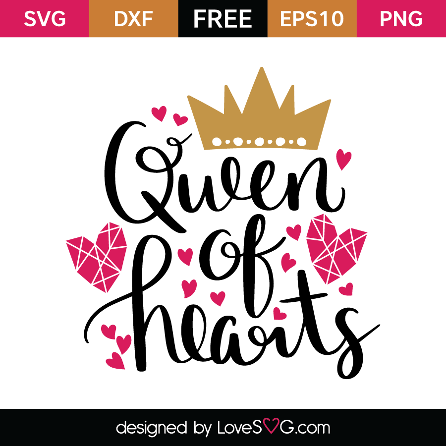 queen of hearts lovesvg