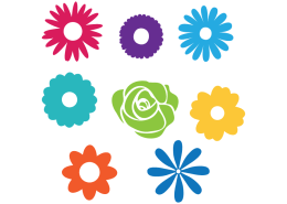 Free SVG cut file - 2002- Flowers Set
