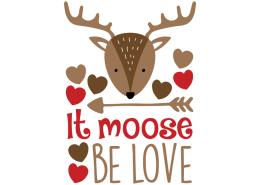 Free SVG cut files - It moose be love