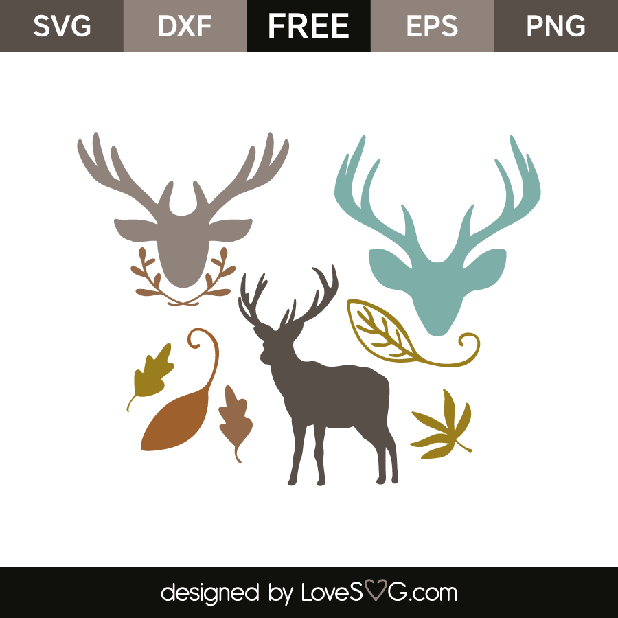 Download Deer and elements | Lovesvg.com