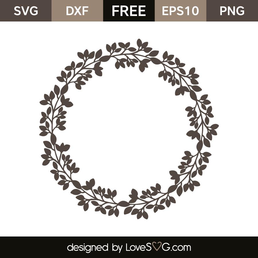 Download Leaves Monogram Frame | Lovesvg.com