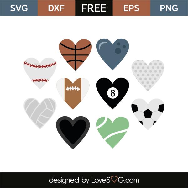 Decorative Hearts - Sports