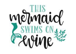 This mermaid swims in wine