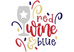 Red wine blue