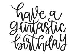 Have a gintastic birthday