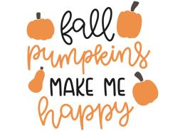 Fall pumpkins make me happy