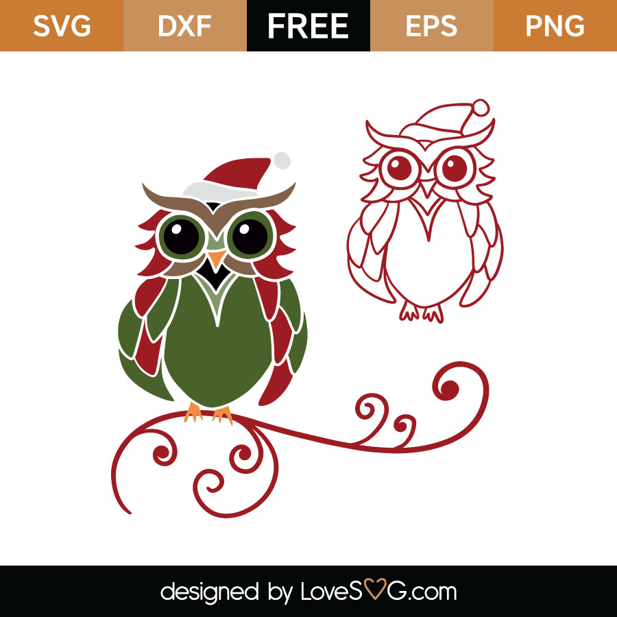 Download Christmas Owl Cutting File | Lovesvg.com