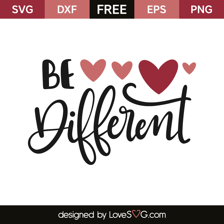 Download Be Different - Lovesvg.com