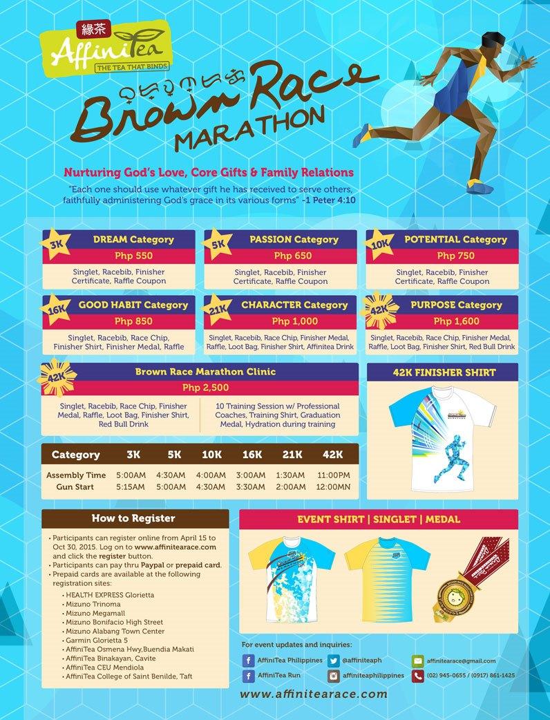 Run Teacher Run: AffiniTea Brown Race Marathon on December 6, 2015 at Quirino Grandstand
