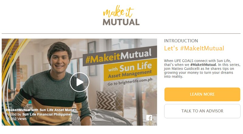 Sun Life Philippines and Matteo Guidicelli for #MakeItMutual Vlogs Campaign