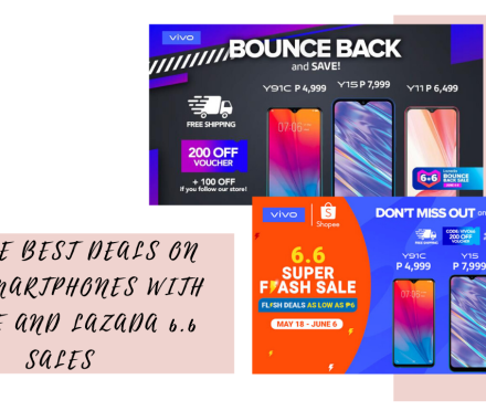 Vivo smartphones with Shopee and Lazada 6.6 sales