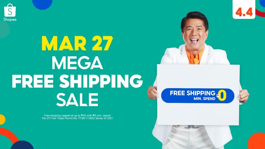 Shopee Mega Free Shipping Sale
