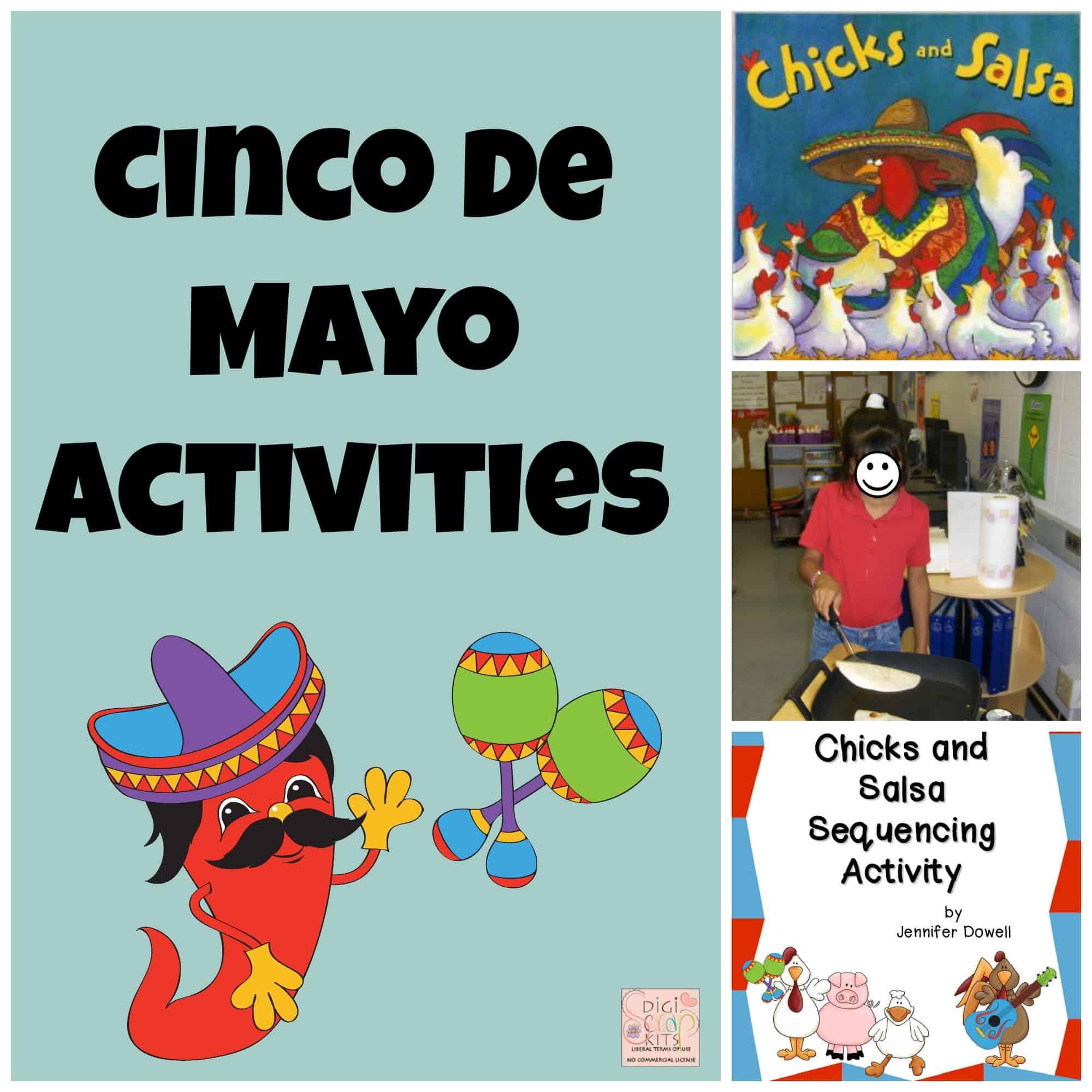 Cinco De Mayo Activities Chicks And Salsa Sequencing