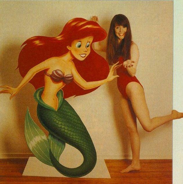 6. Deze dame stond model voor het figuur van Ariel. De jonge Alyssa Milano stond model voor het karakter van Ariel.