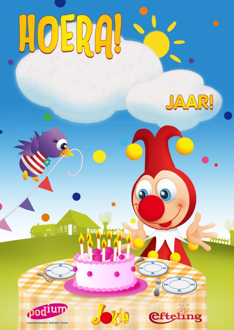Verjaardagskaart Jokie en Jet   Jokiefeest