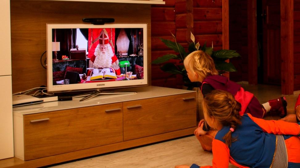 Video van Sint bij ons thuis