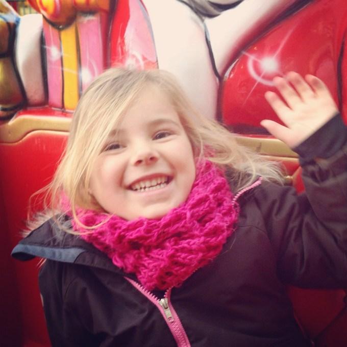 Zaterdag gingen we naar St Gallen voor de kerstmarkt. Eva vond de attracties het leukste.