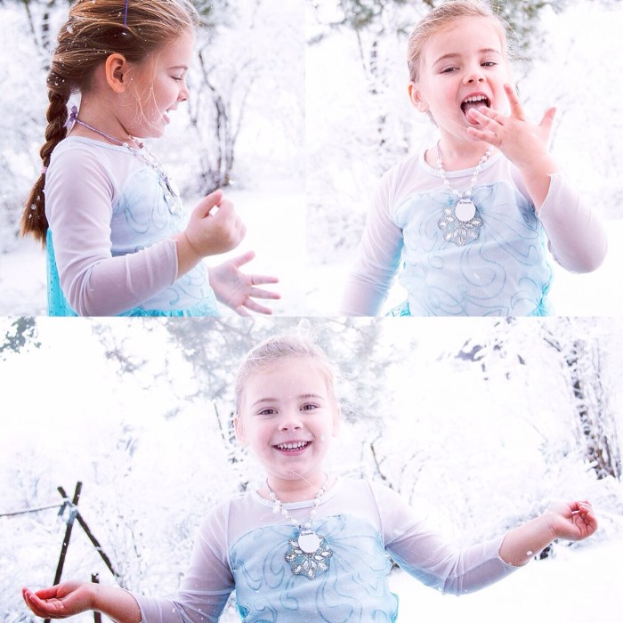 Omdat Eva graag als Elsa haar krachten gebruikt, maakte ik deze foto's van haar. Ze pasten ook nog eens fantastisch bij mijn blog over Frozen deze week.