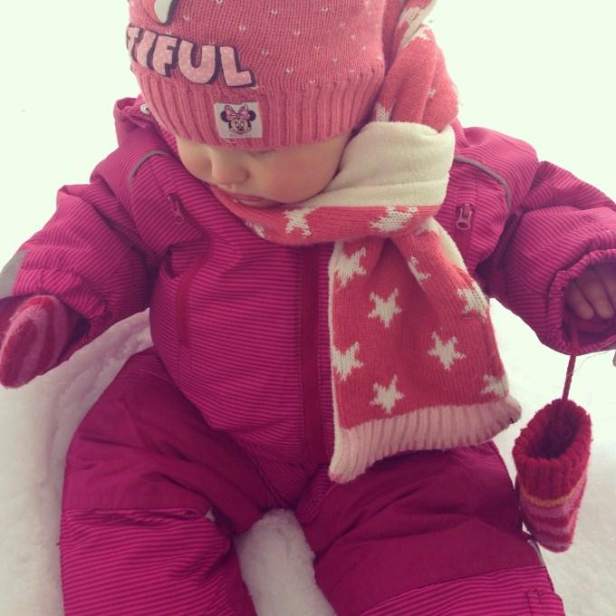 Langzaam maar zeker vindt Liza de sneeuw leuker worden
