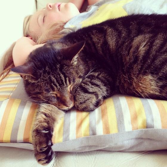 Ze kreeg gezelschap van Gijs en heeft uiteindelijk 3 uur geslapen. En nee, ze lag er vrijdag niet op tijd in. :)