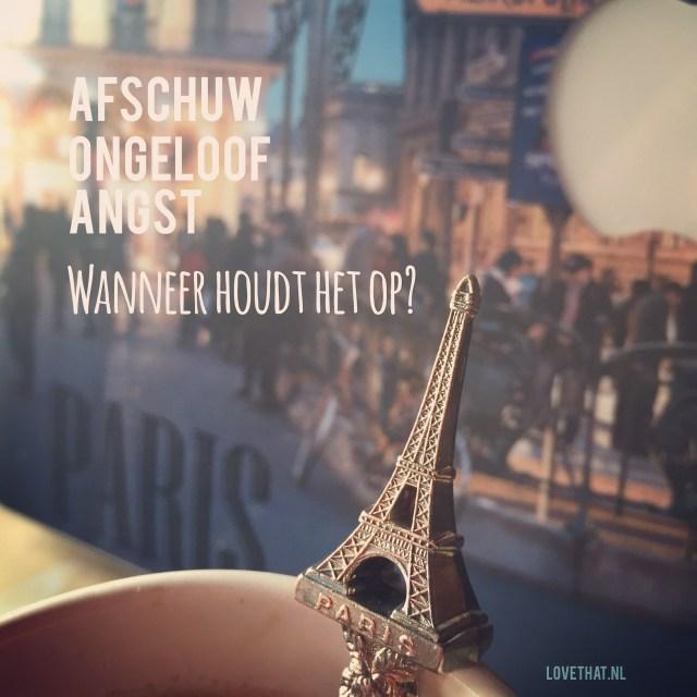 Natuurlijk, kan er niet omheen. Wat er in Parijs is gebeurd, beheerst mijn week enorm!