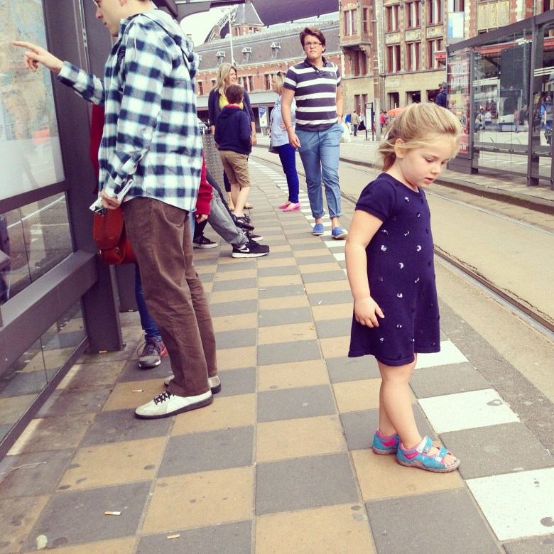 Op naar mijn oom en tante in Amsterdam!