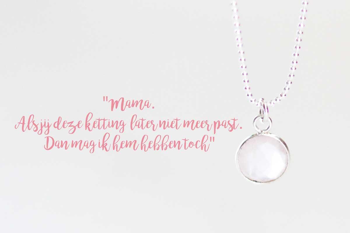 ketting met rozenkwarts Kaya Sieraden Lovethat.nl