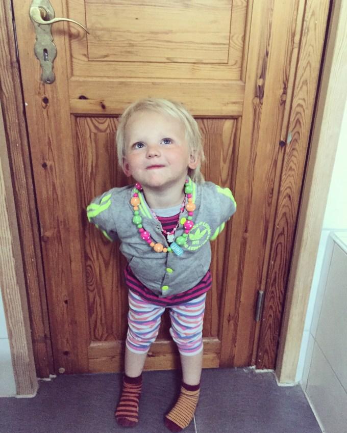 Overigens koos dit meisje haar eigen kleren uit!