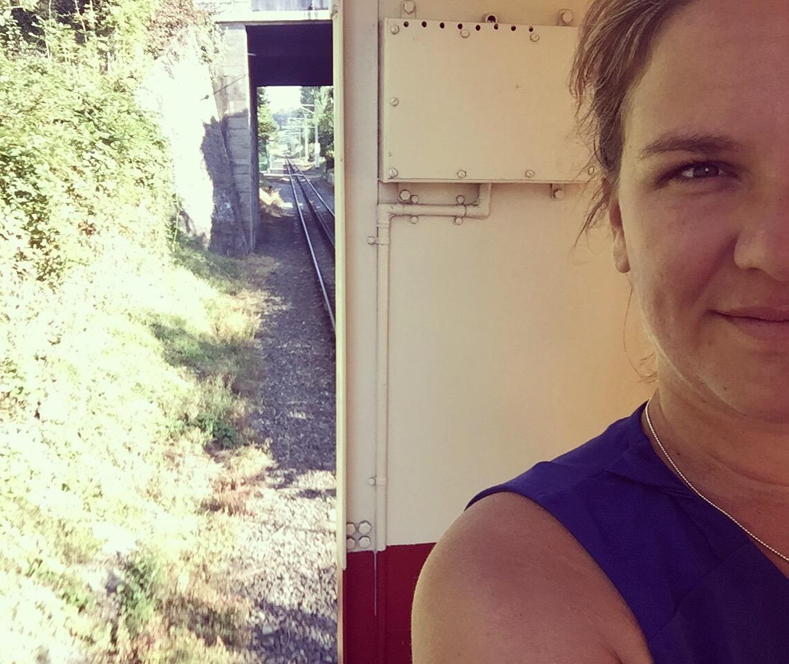 Dat ben ik! Leuk zo'n ritje in de trein