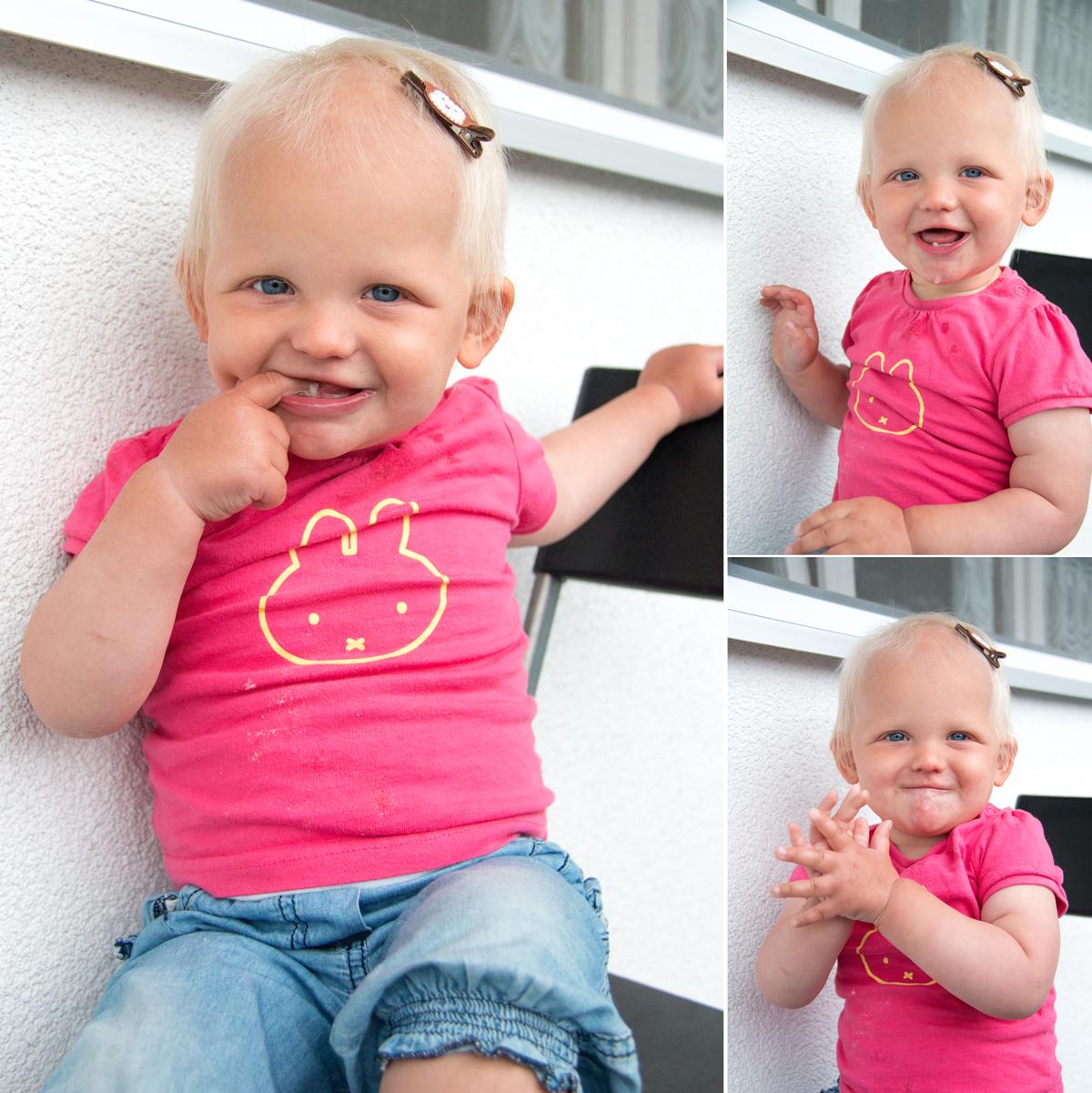 En dan vandaag! Vandaag is ze echt 15 maanden en is toch echt een hele happy tante!