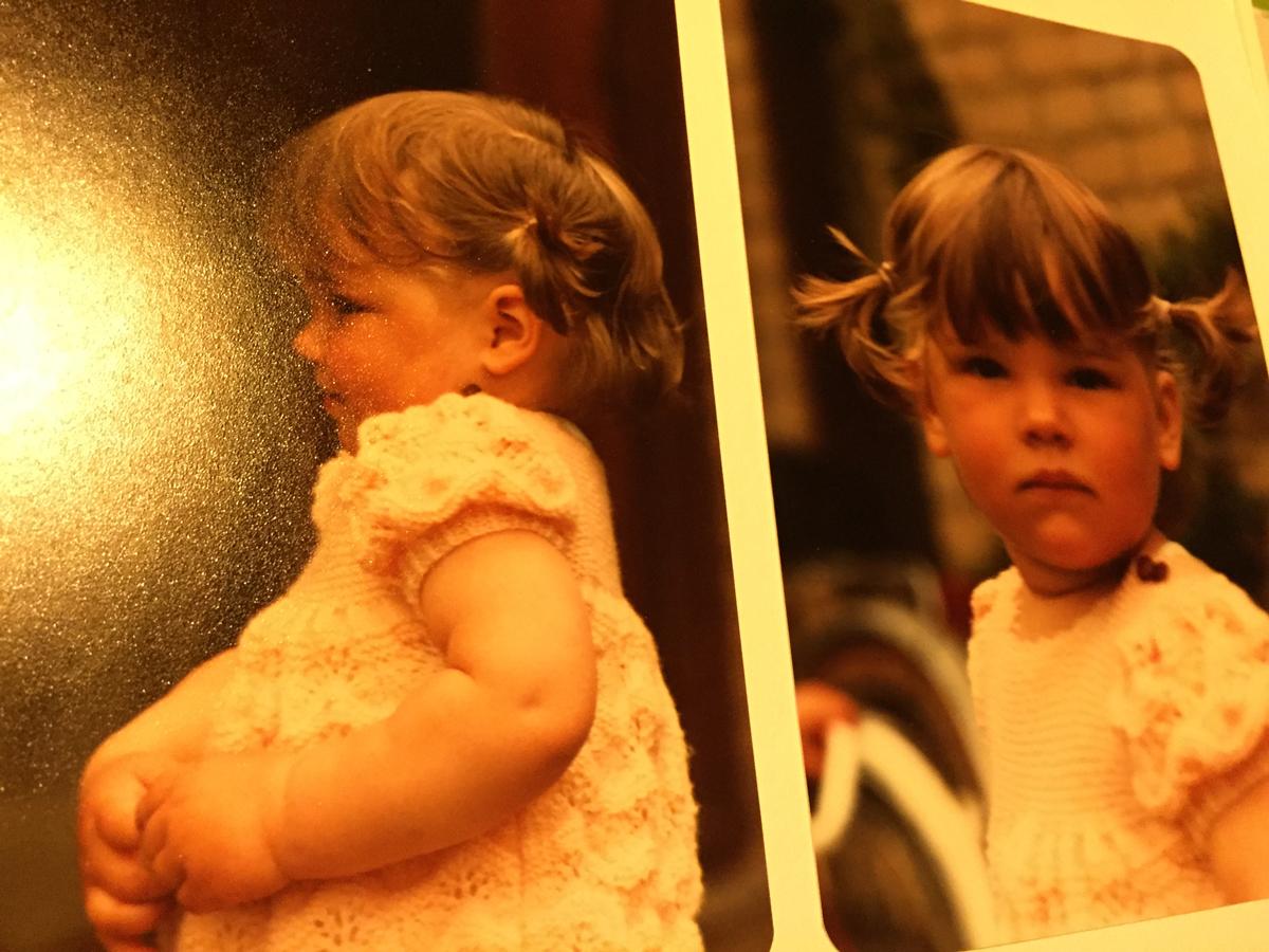 En toen was ik al wat groter. Zie je Eva of Liza erin terug? Eva lijkt wel veel op mij, maar Liza... absoluut niet!