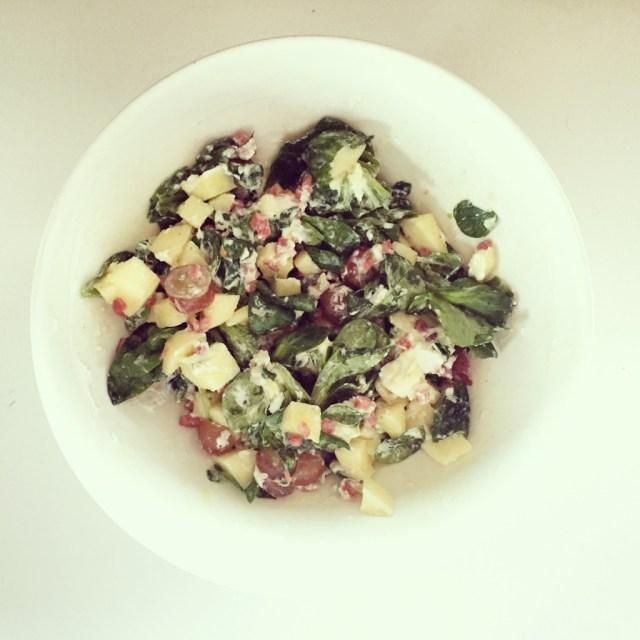 Dinsdagavond maak ik geitenkaas salade. Superlekker!