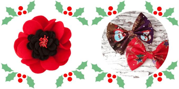 viltbloem en kerststrikken