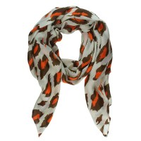 orange fall leaves infinity scarf