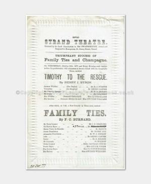 1877 Royal Strand Theatre - Family Ties