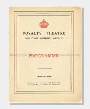 1912 Royalty Theatre, Milestones
