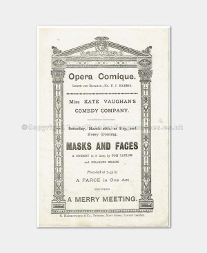 1887 - Opera Comique - Masks and Faces