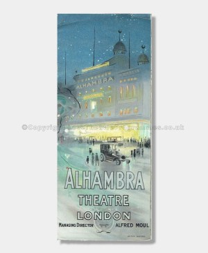 1912 - Alhambra Theatre, London - Variety